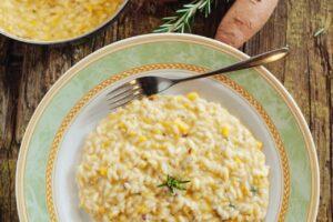 Rizoto e shijshme me patate dhe djathë