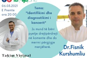 """Të premten në """"Takim virtual me Shëndritin"""" patologu Fisnik Kurshumliu"""