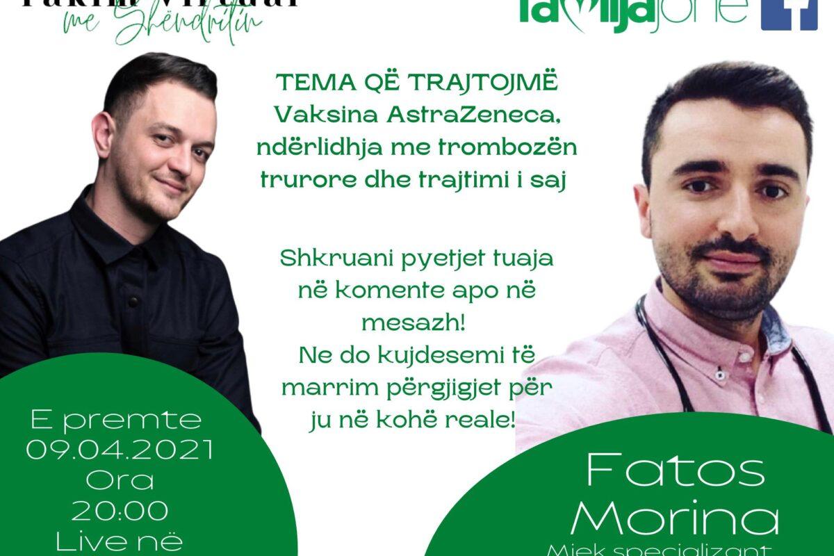 """Sonte në """"Takim virtual me Shëndritin"""" mjeku specializant neurolog, Fatos Morina"""