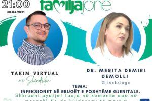 """Sonte në """"Takim virtual me Shëndritin"""" gjinekologia, Dr. Meritë Demiri"""