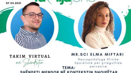 """Sonte në """"Takim virtual me Shëndritin"""" neuropsikologia klinike, Elma Miftari"""