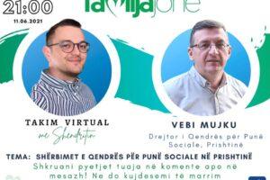 """Sonte në """"Takim virtual me Shëndritin"""" drejtori për punë sociale në Prishtinë, Vebi Mujku"""