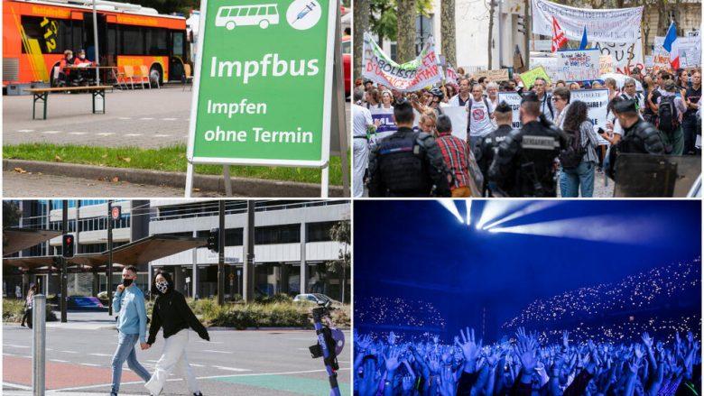 Ahengje, protesta, izolim e javë të vaksinimit – situata me COVID-19 në vendet të ndryshme të botës