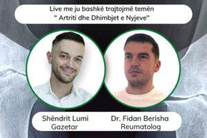 """Të mërkurën në """"Takim virtual me Shëndritin"""" reumatologu dr. Fidan Berisha"""